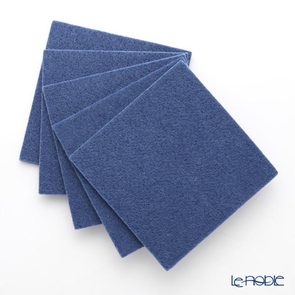 DAFF square coaster Blue 10 cm 5 pieces
