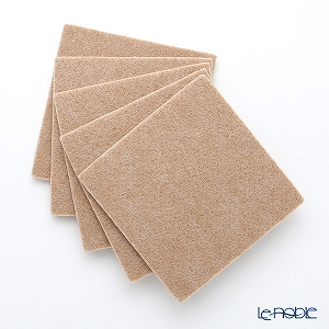 DAFF square coaster Beige 10 cm 5 pieces