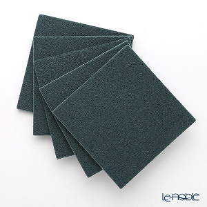 DAFF square coaster Dark green 10 cm 5 pieces