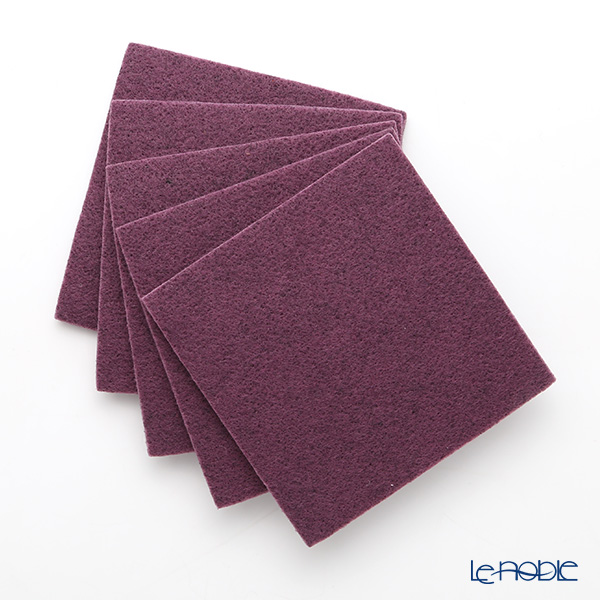 Daff 'Purple' Square Felt Coaster 10cm (set of 5)