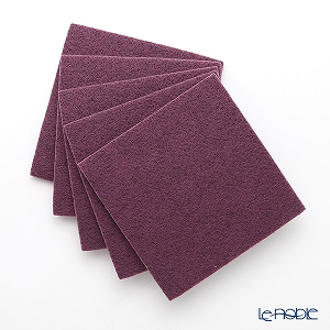 DAFF square coaster Purple 10 cm 5 pieces