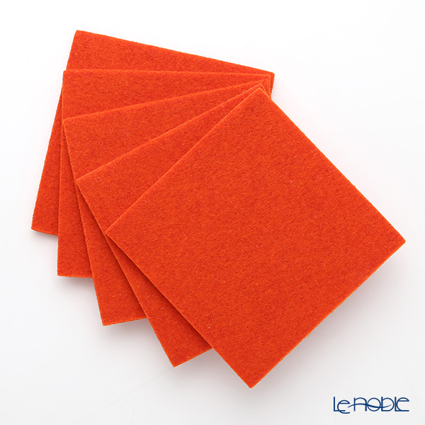 daff スクエアコースターオレンジ 10cm 5枚セット