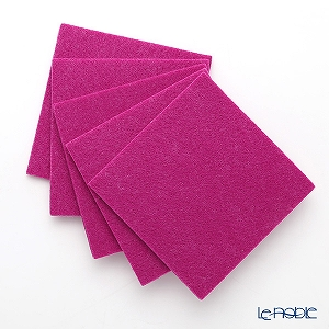 DAFF square coaster Wine Red 10 cm 5 pieces