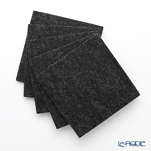 DAFF square coaster Dark gray 10 cm 5 pieces