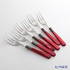 Emme Napoleon cake fork Red 6-Pack