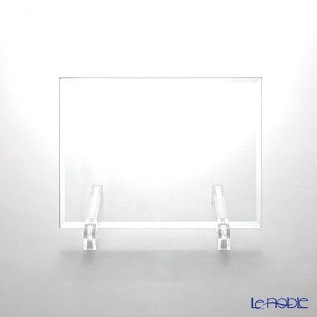 ガラスネームプレート スタンド付9.5×13cm 【エッチング加工料金込 ※10文字まで※】