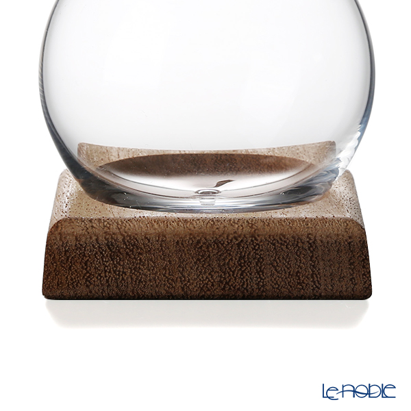 GLASSBACCA × Philippe Jamese 'Tencho - Glass' Swirling Sake Cup 200ml with Wooden Coaster (set of 2)