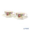 Gien 'Millefleurs' 16432PTH01 Tea Cup & Saucer 190ml (set of 2)