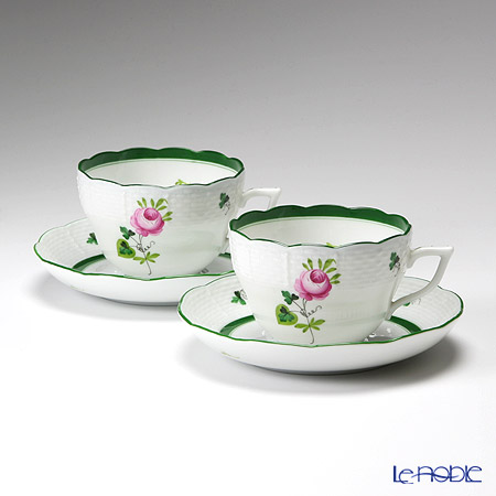 Herend 'Vienna Rose / Vieille Rose de Herend' VRH 00730-0-00/730 Tea / Coffee Cup (combined) & Saucer 200ml (set of 2)