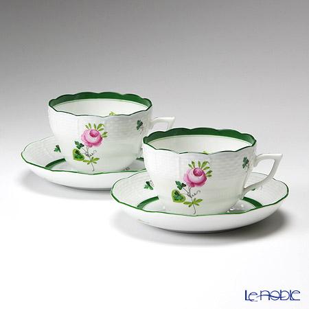 ヘレンド ウィーンのバラ 00730-0-00/730 ティーカップ&ソーサー(兼用) 200cc ペア
