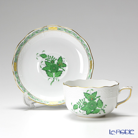 Herend 'Chinese Bouquet Green / Apponyi' AV 00724-0-00 Tea Cup & Saucer 200ml (set of 2)