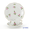 Herend 'Small Roses Pink / Petites Roses' PR 00517&00724 Tea Cup & Saucer, Plate (set of 2 for 1 person)