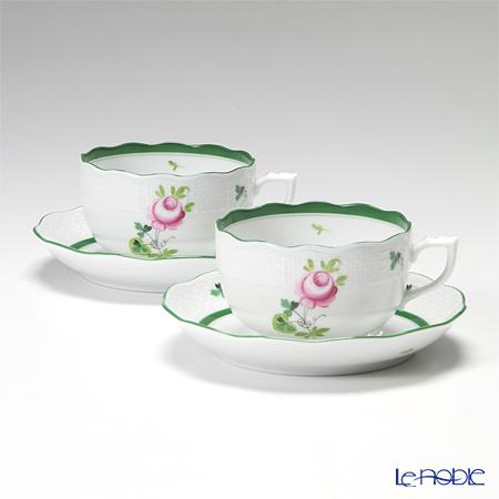 ヘレンド ウィーンのバラ 00724-0-00/724 ティーカップ&ソーサー 200cc ペア