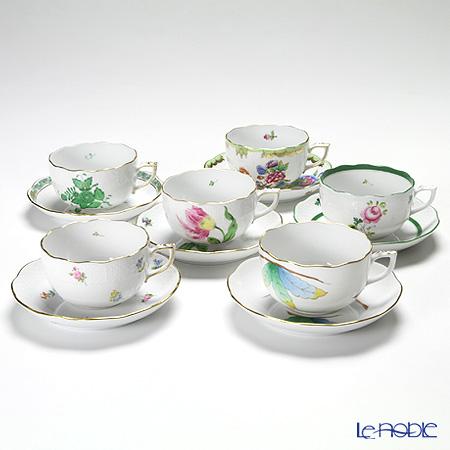 ヘレンド 絵変わり ティーカップ&ソーサー 00724-0-00 人気セレクション 6客セット