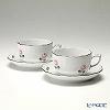 ヘレンド ウィーンのバラ プラチナ 00724-0-00ティーカップ&ソーサー 200cc ペア