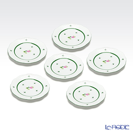 Herend 'Vienna Rose / Vieille Rose de Herend' VRH 00517-0-00/517 Dessert Plate 19cm (set of 6)