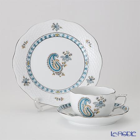 ヘレンド ペイズリー ターコイズ プラチナ BUTTQ-PT トリオセット