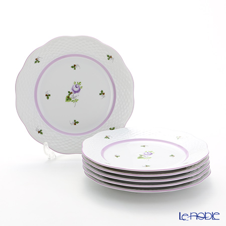 Herend 'Vienna Rose Lilac / Vieille Rose de Herend' VRHL Plate 19cm (set of 6)