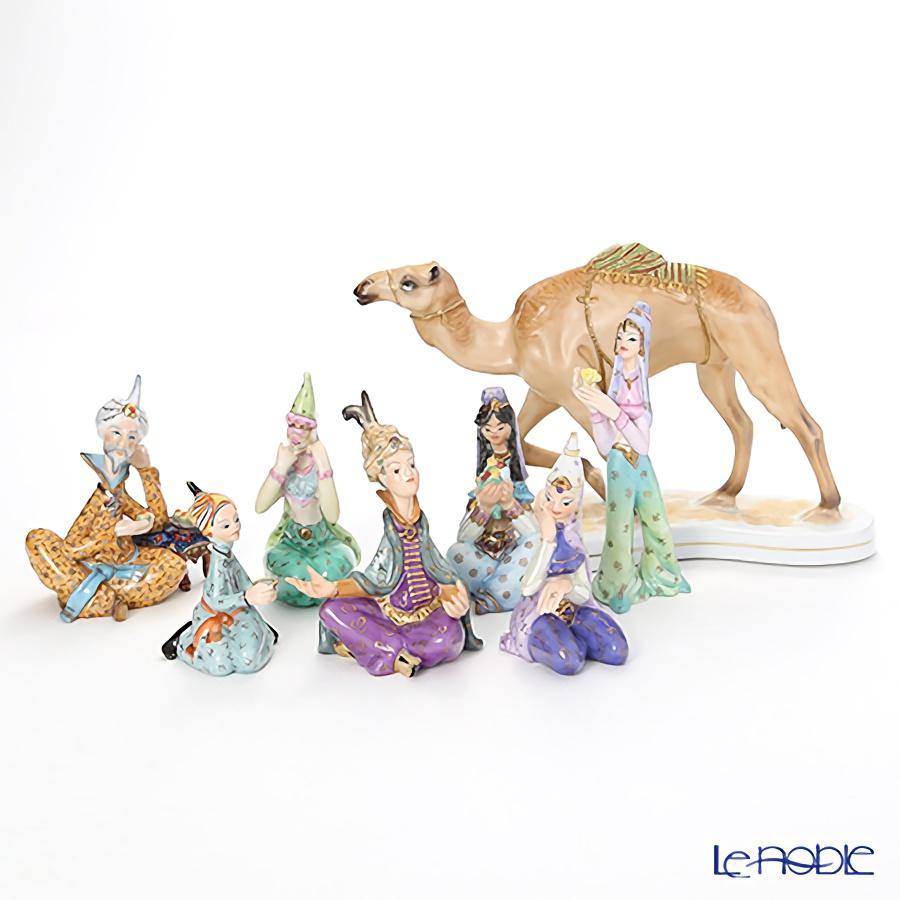 ヘレンド人形7体&ル・ノーブルオリジナル 陶磁器製フィギュリン ラクダ 1体 8点セット