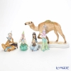 ヘレンド人形4体&ル・ノーブルオリジナル 陶磁器製フィギュリン ラクダ 1体5点セット