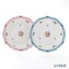 Herend rose Tulip blue RTFB & pink RTFP Plate 19 cm 20517-0-00 pair