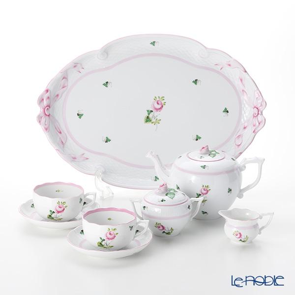 ヘレンド ウィーンのバラ ピンク テテアテテセット