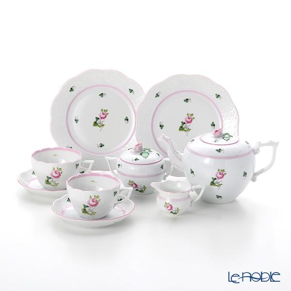 ヘレンド ウィーンのバラ ピンク 2人用 ティー7点セット(兼用)