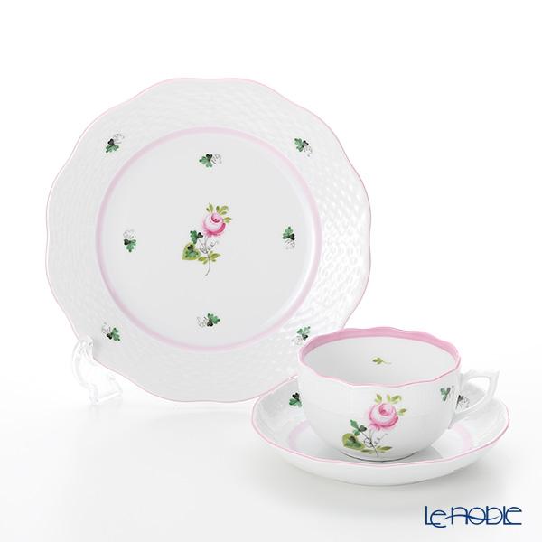 ヘレンド ウィーンのバラ ピンク トリオセット