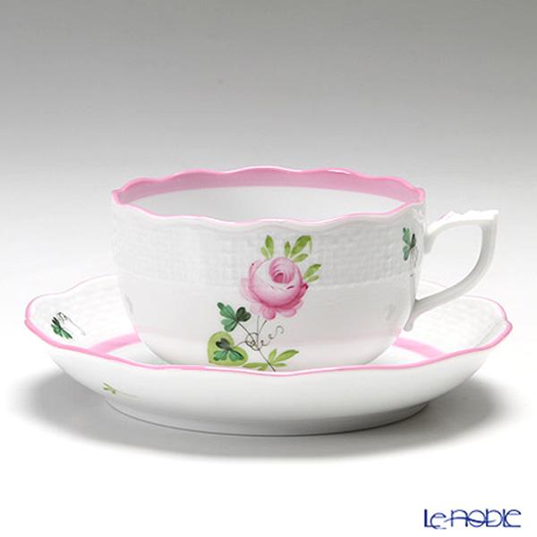ヘレンド ウィーンのバラ ピンク 00724-0-00ティーカップ&ソーサー 200cc ペア