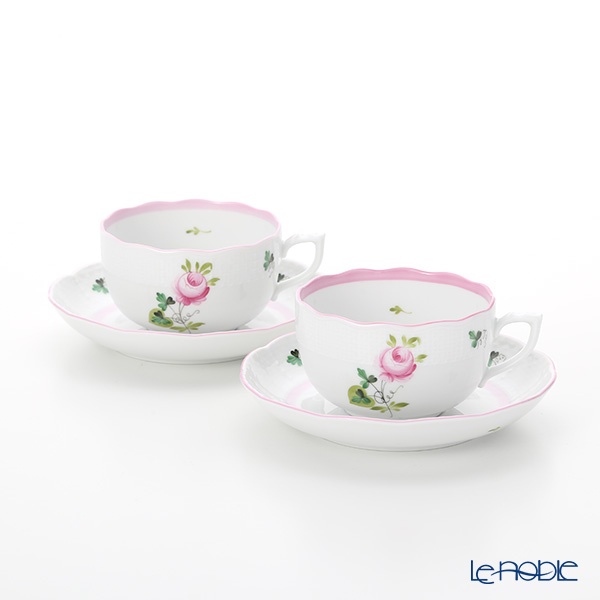 Herend 'Vienna Rose Pink / Vieille Rose de Herend' VRH-X4 00724-0-00 Tea Cup & Saucer 200ml (set of 2)