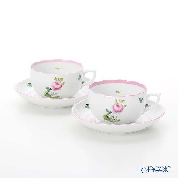 ヘレンド ウィーンのバラ ピンク 00724-0-00 ティーカップ&ソーサー 200cc ペア