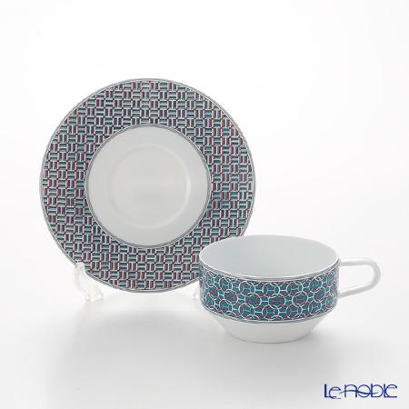 Hermes Tie-Set Mint Tea Cup & Saucer 150ml
