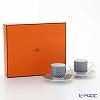 Hermes Tie-Set Coffee Cup & Saucer 100ml (set of 2pcs) Cobalt