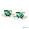 Hermes 'Passifolia' 044016P Tea Cup & Saucer 200ml (set of 2)