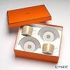 Hermes 'Mosaique au 24' Gold 026016P Tea Cup & Saucer 160ml (set of 2)