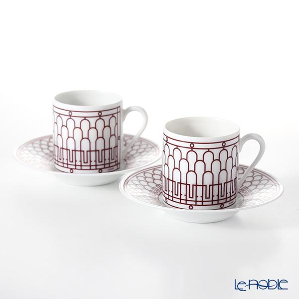 エルメス(HERMES) H Deco Rouge アッシュデコ ルージュ コーヒーカップ&ソーサー 90ml ペア