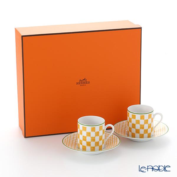 エルメス(HERMES) ウォーク・イン・ザ・ガーデン コーヒーカップ&ソーサー イエロー ペア