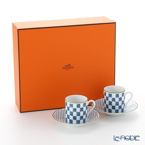 エルメス(HERMES) ウォーク・イン・ザ・ガーデンコーヒーカップ&ソーサー ブルー ペア