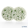 Hermes 'A Walk in the Garden' Green 043107P Dessert Plate 21cm (set of 2)