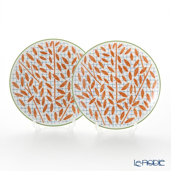 エルメス(HERMES) ウォーク・イン・ザ・ガーデン デザートプレート 21cm オレンジ ペア