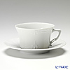 Hutschenreuther 'Barnosse' White Low Tea Cup & Saucer 220ml