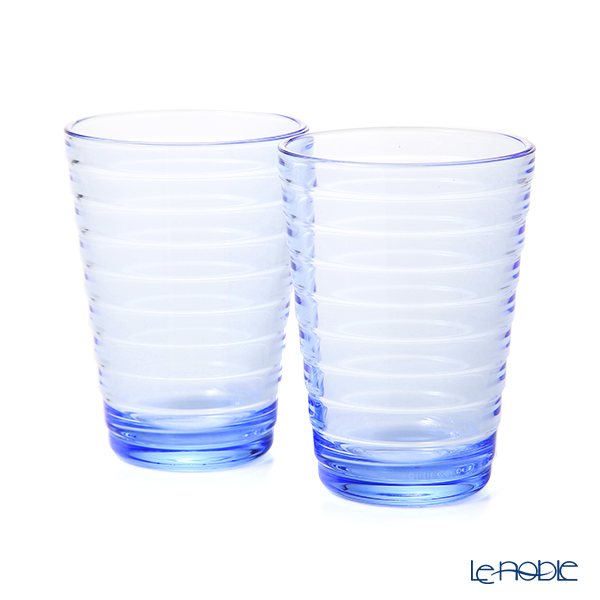 Iittala 'Aino Aalto' Aqua Blue 1026180 Tumbler 330ml (set of 2)