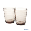 Iittala 'Aino Aalto' Linen Brown 1051122 Tumbler 220ml (set of 2)
