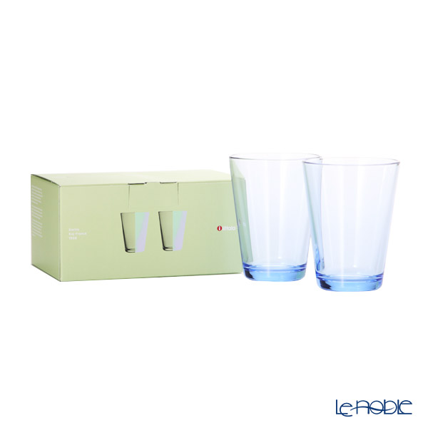 Ittala 'Kartio' Aqua Blue Tumbler 400ml (set of 2)