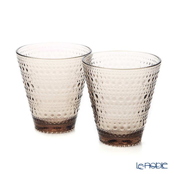 Iittala 'Kastehelmi' Linen Brown 1051121 Tumbler 300ml (set of 2)