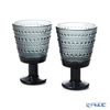 Iittala 'Kastehelmi' Dark Grey 1057031 Universal Glass 260ml (set of 2)