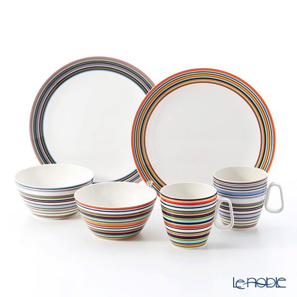 (Iittala) Iittala Origo Orange & beige Mugs & Plates & bowls, set of 6