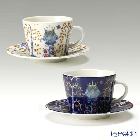 イッタラ(iittala) タイカ ホワイト&ブルー コーヒーカップ&ソーサー 200cc ペア