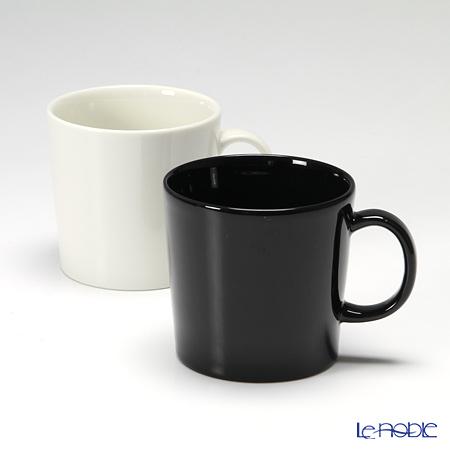 イッタラ(iittala) ティーマ ホワイト&ブラック マグ 300cc ペア