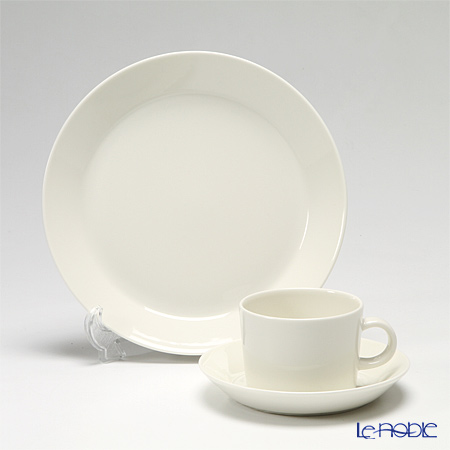 Iittala 'Teema' White 1005482&1005917 Cup & Saucer, Plate (set of 2 for 1 person)
